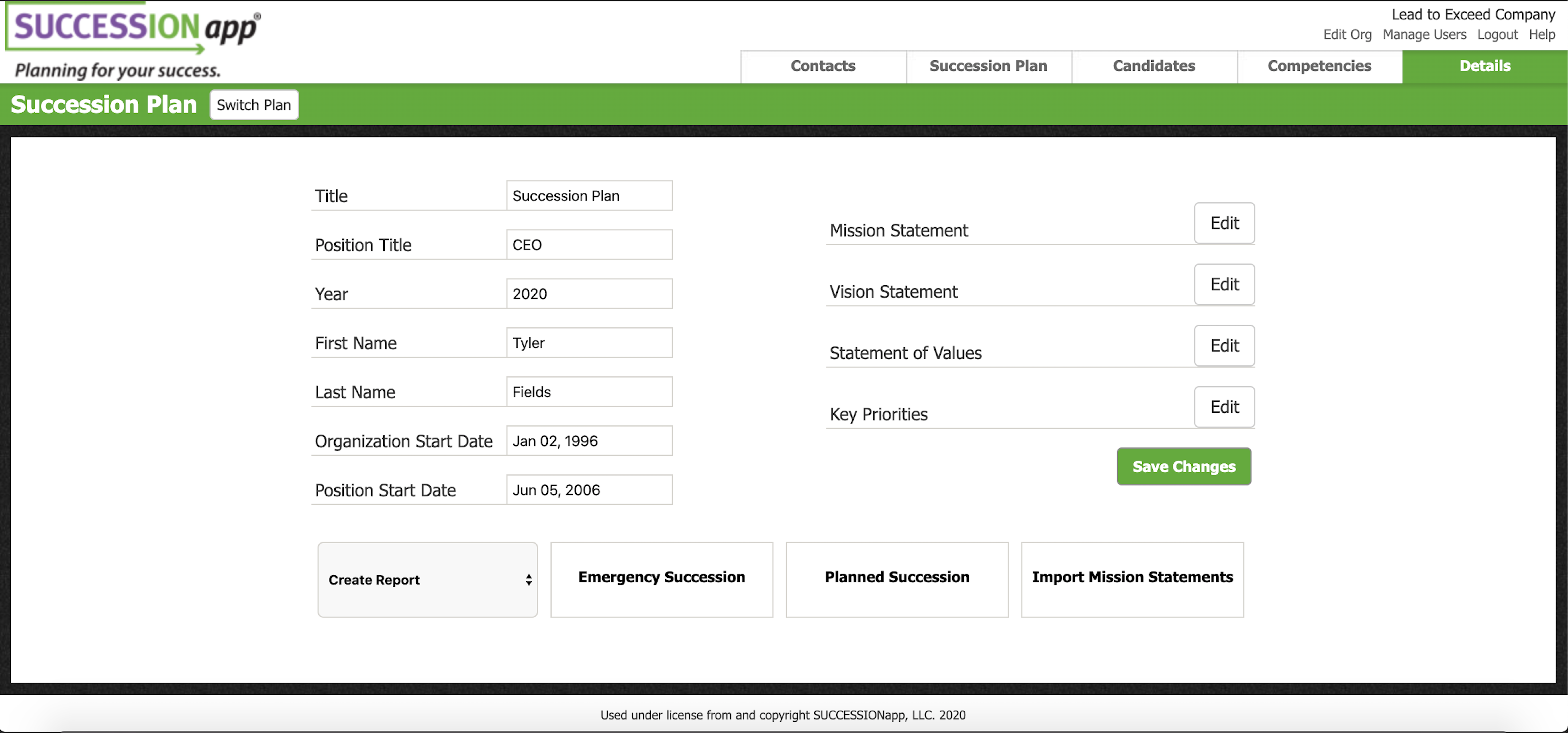 Screenshot of SUCCESSIONapp Software: Intuitive Step-by-step flow